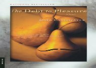 PDF Online The Debt to Pleasure Any Format