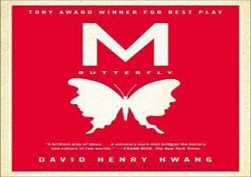 AudioBook M. Butterfly For Kindle