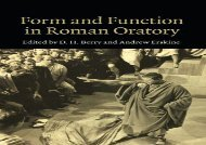 PDF Online Form and Function in Roman Oratory Epub