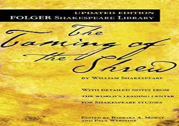Free PDF Taming of the Shrew (New Folger Library Shakespeare) Epub
