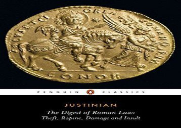 AudioBook The Digest of Roman Law: Theft, Rapine, Damage and Insult (Penguin Classics) For Full