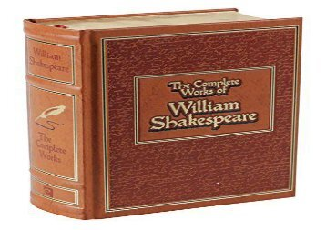 PDF Download Complete Works of William Shakespeare (Leather-bound Classics) Epub