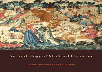 PDF Online Anthology of Medieval Literature Epub