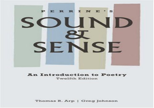 Sound And Sense An Introduction To Poetry Pdf