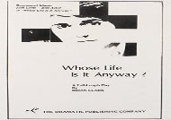 Read Online Whose Life Is It Anyway? Any Format