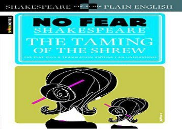 Read Online Taming of the Shrew (No Fear Shakespeare) Any Format