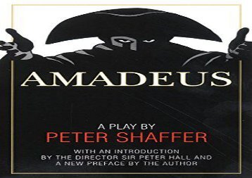 PDF Online Amadeus: A Play by Peter Shaffer Review