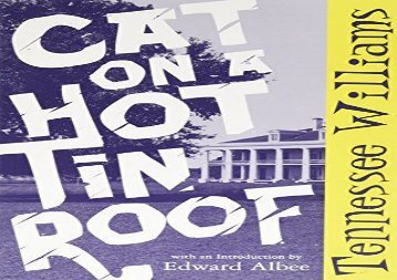 Read Online Cat on a Hot Tin Roof (New Directions Paperbook) Epub
