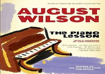 Free PDF The Piano Lesson (Plume) For Full