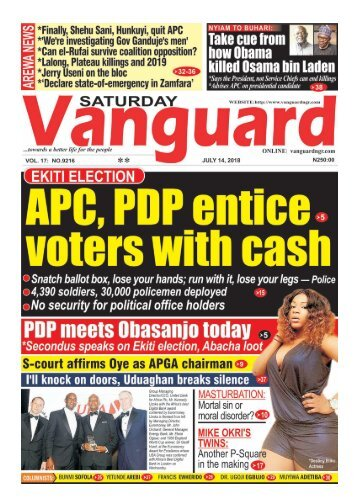 14072018 - EKITI ELECTION  : APC, PDP entice voters with cash