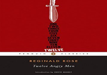 PDF Download Twelve Angry Men (Penguin Classics) Review
