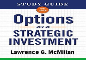 [+][PDF] TOP TREND Options as a Strategic Investment Study Guide  [READ]