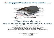 [+]The best book of the month The Book on Estimating Rehab Costs: The Investor s Guide to Defining Your Renovation Plan, Building Your Budget, and Knowing Exactly How Much It All Costs (BiggerPockets Presents.)  [FULL]
