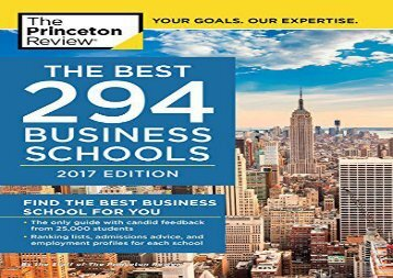 [+][PDF] TOP TREND Best 295 Business Schools (Graduate School Admissions Guides) [PDF]