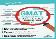 [+][PDF] TOP TREND GMAT Analytical Writing: Solutions to the Real Argument Topics: Volume 17 (Test Prep Series)  [NEWS]