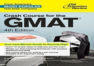 [+][PDF] TOP TREND Crash Course For The Gmat, 4Th Edition (Graduate School Test Preparation) [PDF]