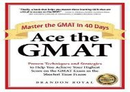 [+][PDF] TOP TREND Ace the GMAT: Master the GMAT in 40 Days [PDF]