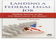 [+]The best book of the month Landing a Federal Legal Job: Finding Success in the U.S. Government Job Market  [FREE]