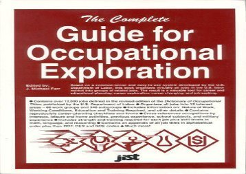 [+]The best book of the month The Complete Guide for Occupational Exploration: An Easy-To-Use Guide to Exploring Over 12,000 Job Titles, Based on Interests, Experience, Skills, and (Career Reference Books)  [NEWS]