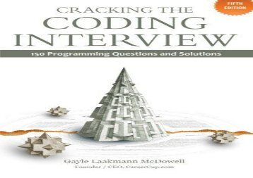 [+]The best book of the month Cracking the Coding Interview: 150 Programming Questions and Solutions  [NEWS]