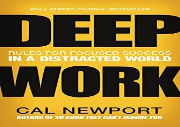 [+]The best book of the month Deep Work: Rules for Focused Success in a Distracted World  [FREE]