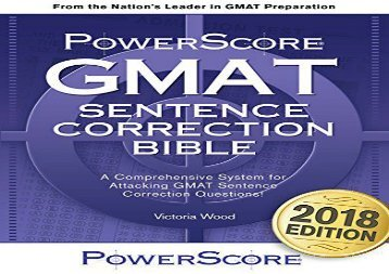 [+]The best book of the month GMAT Sentence Correction Bible: A Comprehensive System for Attacking GMAT Sentence Correction Questions  [READ]