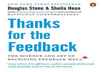 [+][PDF] TOP TREND Thanks for the Feedback: The Science and Art of Receiving Feedback Well  [FREE]