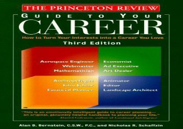 [+]The best book of the month The Princeton Review Guide to Your Career (3rd ed)  [FREE]