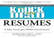 [+]The best book of the month Knock  em Dead Resumes: A Killer Resume Gets MORE Job Interviews!  [FULL]