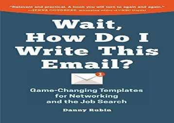 [+][PDF] TOP TREND Wait, How Do I Write This Email?  [FULL]