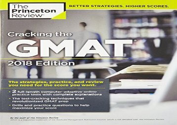 [+]The best book of the month Cracking the GMAT with 2 Computer-Adaptive Practice Tests (Graduate Test Preparation)  [READ]