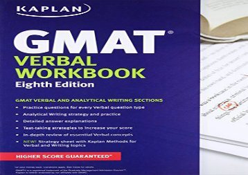 [+][PDF] TOP TREND Kaplan GMAT Verbal Workbook (Kaplan Test Prep)  [FREE]