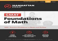 [+]The best book of the month GMAT Foundations of Math: 900+ Practice Problems in Book and Online (Manhattan Prep GMAT Strategy Guides)  [NEWS]