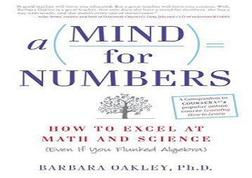 [+]The best book of the month Mind for Numbers: How to Excel at Math and Science (Even If You Flunked Algebra)  [DOWNLOAD]