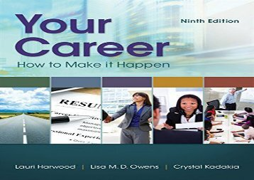 [+][PDF] TOP TREND Your Career: How To Make It Happen (Mindtap Course List)  [FULL]