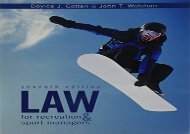 [+]The best book of the month Law for Recreation   Sport Managers [PDF]