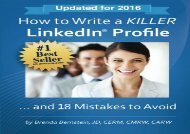 [+][PDF] TOP TREND How to Write a KILLER LinkedIn Profile... And 18 Mistakes to Avoid  [FULL]