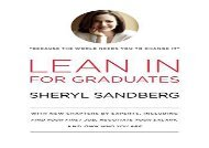 [+][PDF] TOP TREND Lean in for Graduates: With New Chapters by Experts, Including Find Your First Job, Negotiate Your Salary, and Own Who You Are  [FREE]