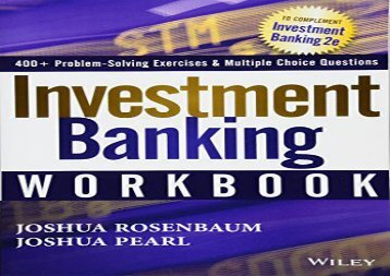 [+][PDF] TOP TREND Investment Banking Workbook (Wiley Finance)  [NEWS]