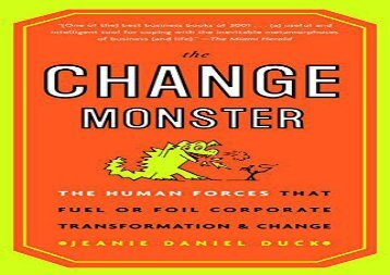 [+][PDF] TOP TREND The Change Monster  [NEWS]