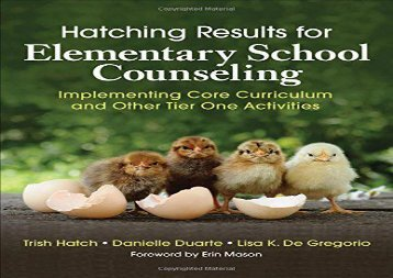 [+]The best book of the month Hatching Results for Elementary School Counseling: Implementing Core Curriculum and Other Tier One Activities  [DOWNLOAD]