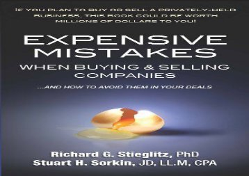 [+]The best book of the month Expensive Mistakes When Buying   Selling Companies: And How to Avoid Them in Your Deals  [NEWS]