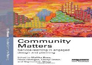 [+]The best book of the month Community MATTEers: Service-Learning in Engaged Design and Planning (Earthscan Tools for Community Planning)  [DOWNLOAD]