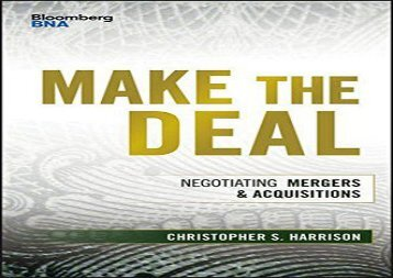 [+]The best book of the month Make the Deal: Negotiating Mergers and Acquisitions (Bloomberg Financial) [PDF]