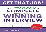 [+]The best book of the month Get That Job!: The Quick and Complete Guide to a Winning Interview  [NEWS]