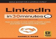 [+]The best book of the month LinkedIn In 30 Minutes (2nd Edition): How to create a rock-solid LinkedIn profile and build connections that matter  [FREE]