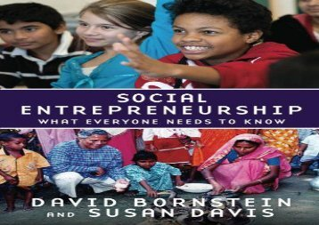 [+][PDF] TOP TREND Social Entrepreneurship What Everyone Needs to Know [PDF]