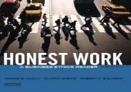 [+]The best book of the month Honest Work: A Business Ethics Reader [PDF]