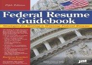 [+][PDF] TOP TREND Federal Resume Guidebook: Strategies for Writing a Winning Federal Resume (Federal Resume Guidebook: Write a Winning Federal Resume to Get in)  [READ]
