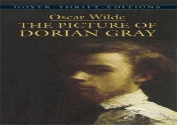 AudioBook The Picture of Dorian Gray (Dover Thrift Editions) Epub
